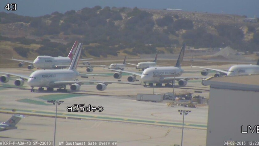 Jetliners backed up at LAX. The Federal Aviation Administration announced Friday that it is ready to replace its aging air traffic control system in the region with new satellite-based procedures.