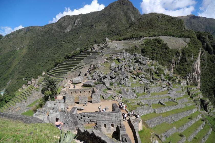 A picture dated April 5, 2019 that shows the citadel of Machu Picchu, south-andean region of Cusco, Peru. The citadel of Machu Picchu, Cultural Heritage of Humanity, has found its way to salvation from the impact of tourism and the waste it produces, in recycling, sustainability and the 'circular economy'. EFE/ Ernesto Arias