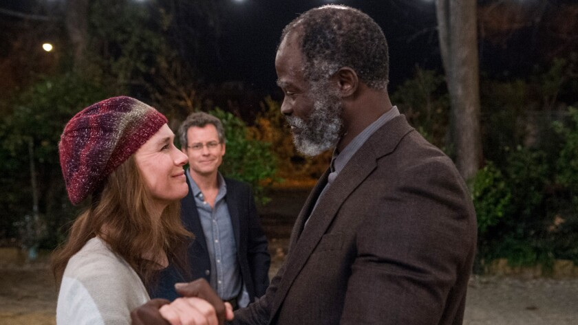 "(L-R) - Djimon Hounsou and Renee Zellweger in a scene from the movie ""Same Kind of Different as Me."""