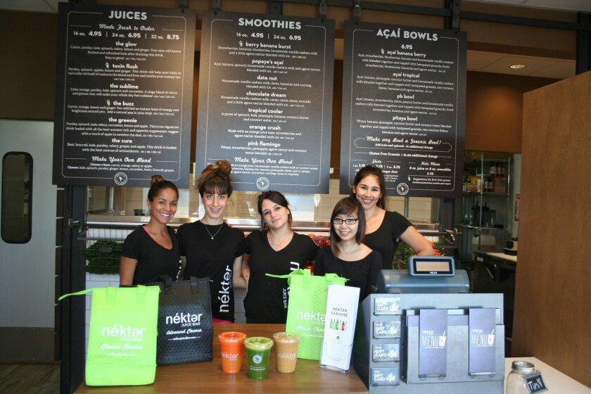 Nékter Juice Bar is now open in Del Mar Highlands Town Center.
