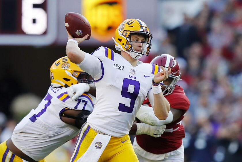 Joe Burrow, No. 2 LSU hold on for shootout win over No. 3 ...