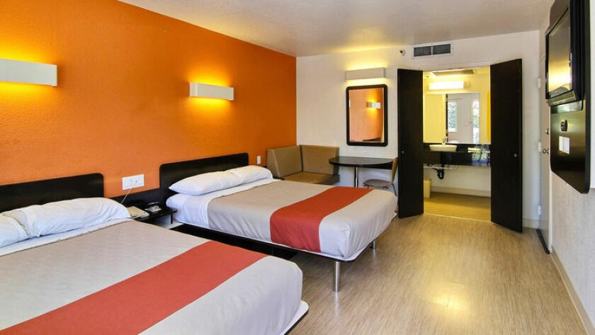 Motel 6's renovated double rooms have been phased in over the past few years. The chain hopes to complete the new decor in all properties in 2017. It feature beds with a pillow top mattress, carpet-free floors and accents in bright colors.