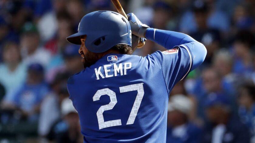 sneakers for cheap 6fa96 4ac78 Column: Dodgers outfielder Matt Kemp wants a second chance ...