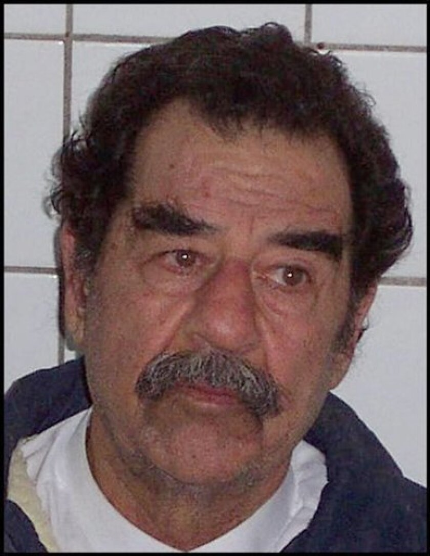 FILE - In this image released by the U.S. Army on Dec. 14, 2003, former Iraqi President Saddam Hussein is shown in custody after he was arrested near his Tikrit home. Unclassified FBI interviews conducted during his incarceration at a U.S. detention center show new details about the late Iraqi dictator's life on the run - both before and after he was ousted.(AP Photo/U.S. Army)
