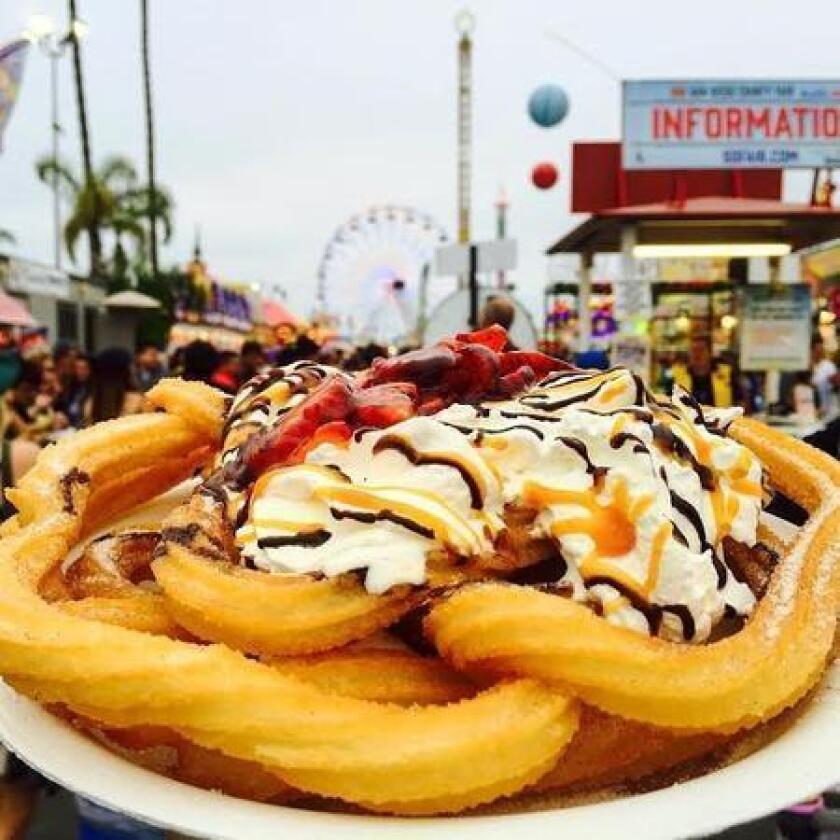 Instagram: Mexican funnel cake at the San Diego County Fair. (/ @eatlikeafattie)