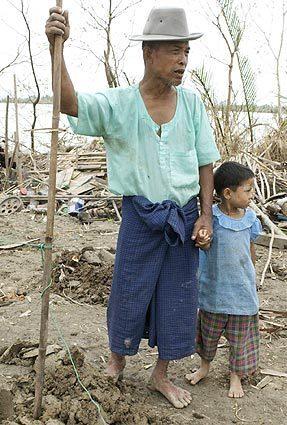 Myanmar cyclone survivor in Irrawaddy Delta region