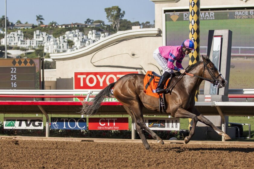 Trainer Peter Eurton's Pacific Heat was the easy winner of the Golden State Juvenile Fillies stakes on opening day of Del Mar's Bing Crosby Season.
