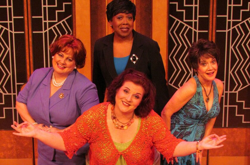 "The cast of ""Menopause the Musical,"" clockwise from top: Kimberly Ann Harris, Kathy St. George, Margot Moreland and Liz Hyde. The musical will play March 19 and 20 in Escondido and March 22 and 23 at the Balboa Theater in San Diego. CREDIT: GFour Productions"