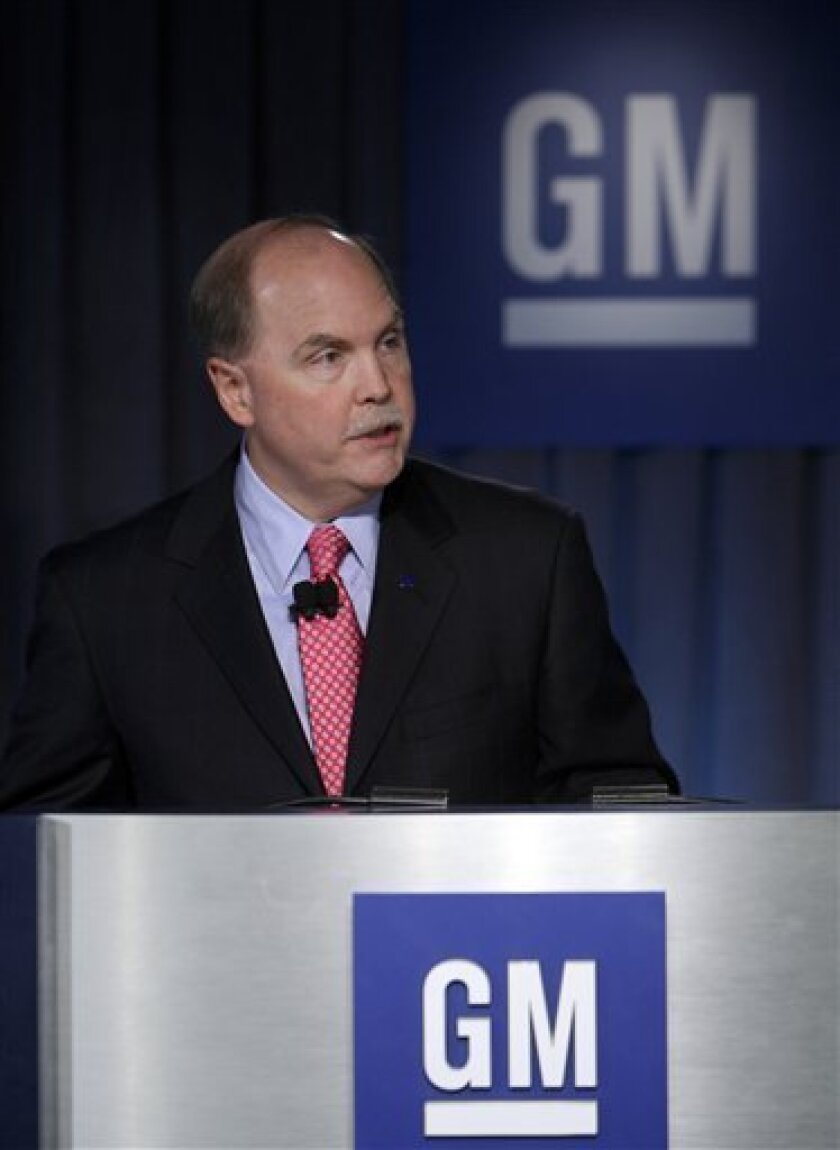 General Motors Corp. CEO Fritz Henderson addresses the media during a news conference at the company's headquarters in Detroit, Friday, July 10, 2009. The new General Motors will be far faster and more responsive to customers than the old one, and it will make money and repay government loans faster than required, Henderson said Friday as the company emerged from bankruptcy protection. (AP Photo/Carlos Osorio)