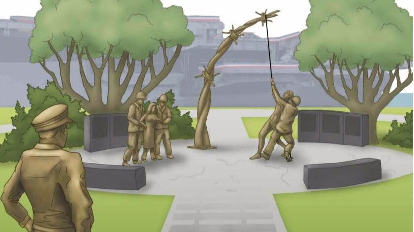 Artist's rendering of the proposed Holocaust memorial.