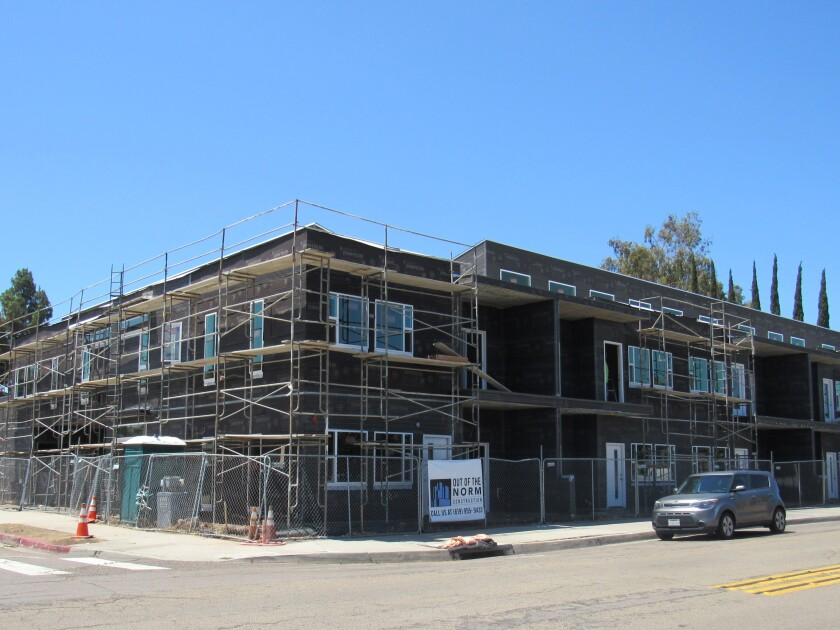New housing going up in El Cajon near the library will help fill some of the city's state-mandated needs for homes.