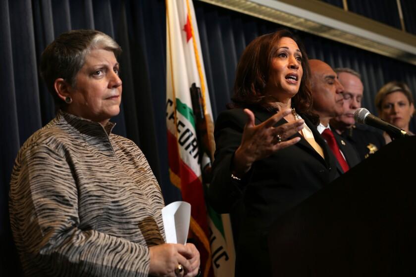 Janet Napolitano, Kamala Harris