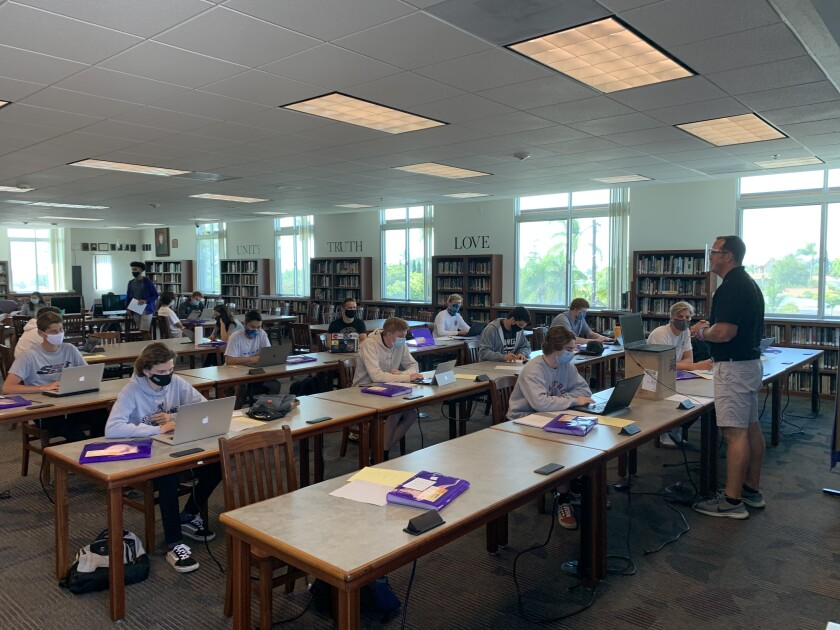 St. Augustine High School served 400 students in-person for summer classes, athletic programs.