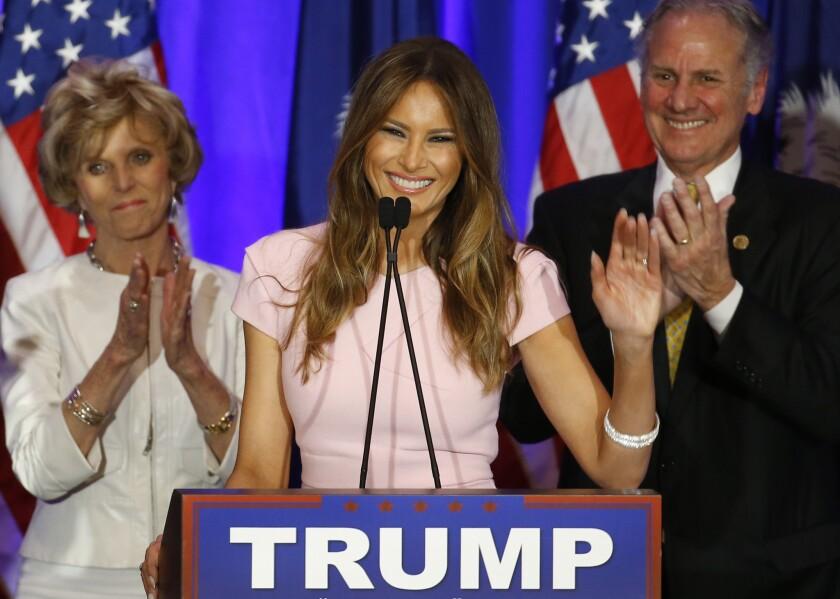 Melania Trump. (AP Photo/Paul Sancya)