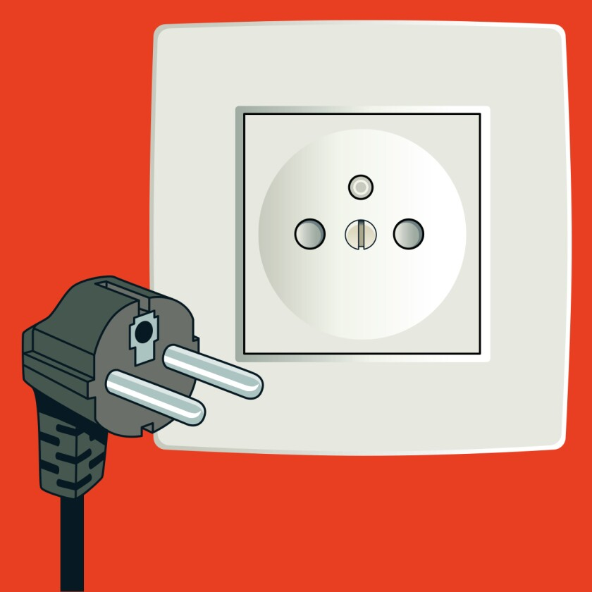 Type E plug and socket