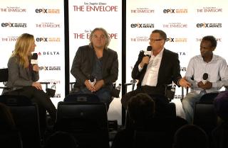 'Captain Phillips' panel with moderator Rebecca Keegan
