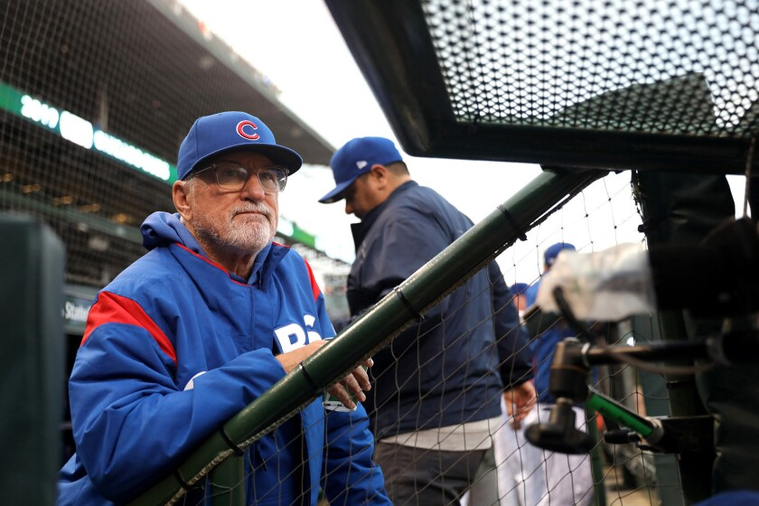 Chicago Cubs manager Joe Maddon during a game against the New York Mets on June 20.