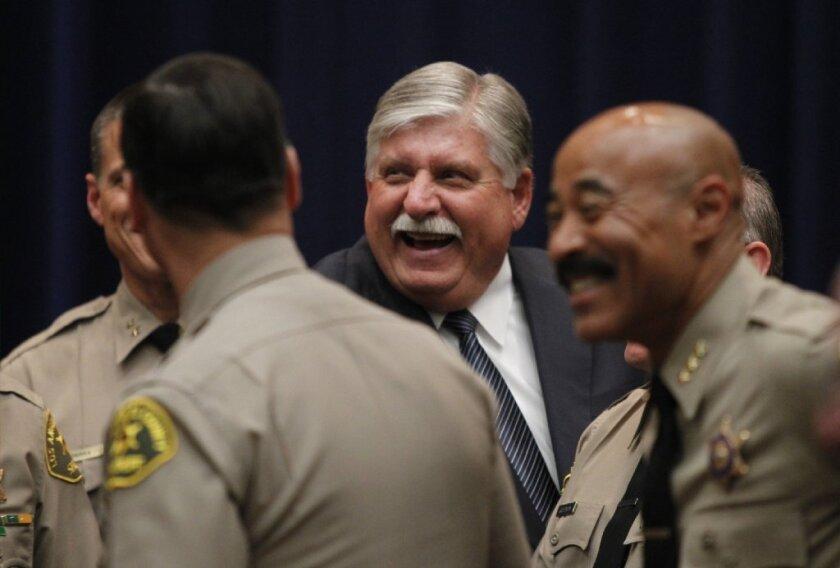 Los Angeles County Sheriff John L. Scott is seen in January before taking the oath of office.