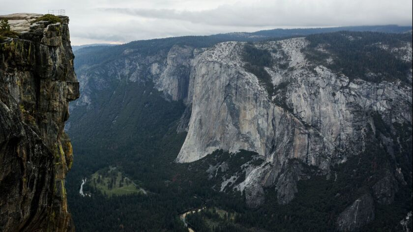 YOSEMITE NATIONAL PARK, CALIF. -- MONDAY, MAY 18, 2015: Taft Point in Yosemite National Park, Calif.