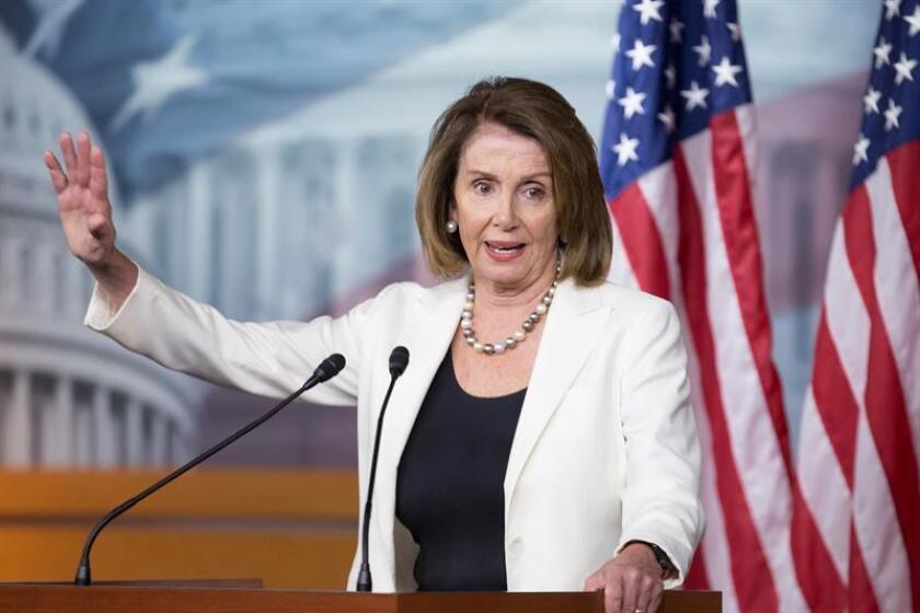 La líder demócrata en la Cámara de Representantes, Nancy Pelosi. EFE/Archivo