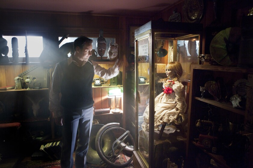 "Patrick Wilson in a scene from 2013's ""The Conjuring,"" which was shot in North Carolina. A spinoff, ""Annabelle,"" is filming in Los Angeles."