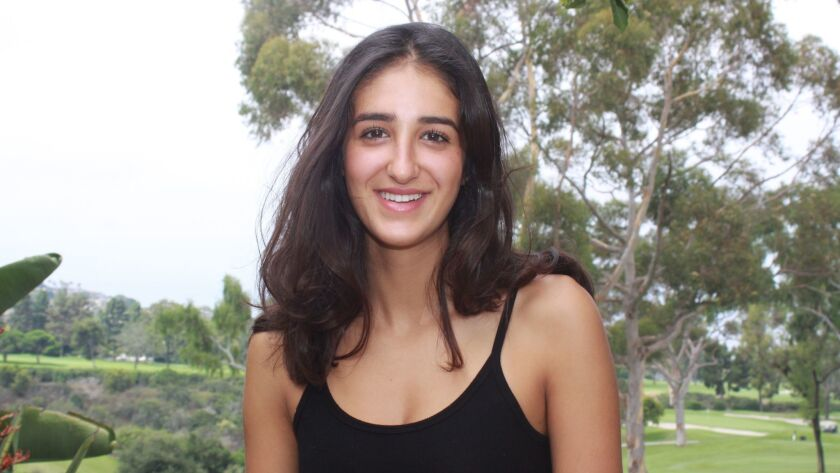 Bishop's School senior Sayeh Kohani, inventor of the SolarSave water purification system