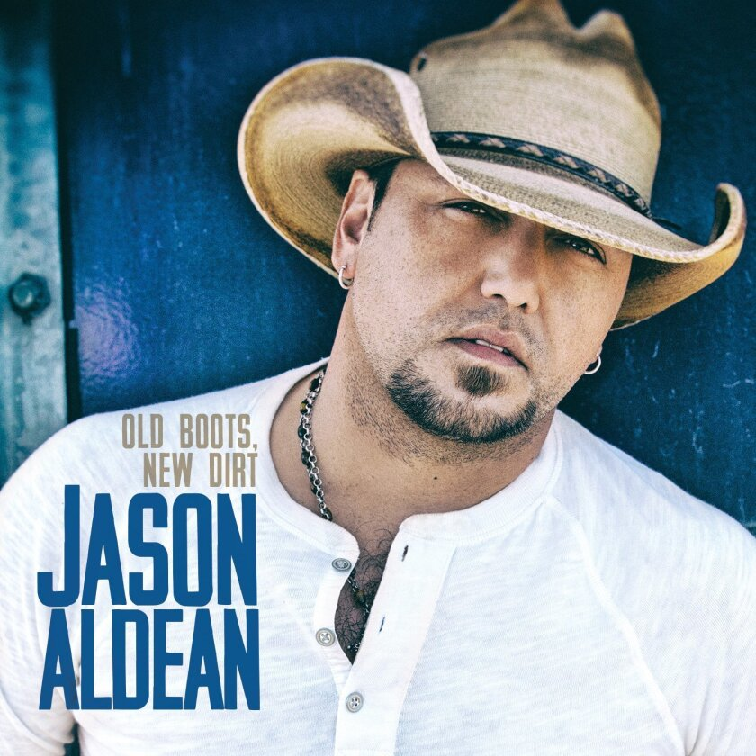 "This CD cover image released by Broken Bow Records shows ""Old Boots, New Dirt,"" the latest release by Jason Aldean. (AP Photo/Broken Bow)"