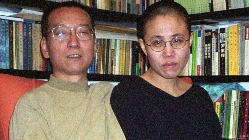 Liu Xiaobo and wife Liu Xia in 2002.