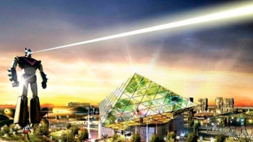 An artist's rendering of the Robot Land theme park scheduled to open in South Korea in 2013.