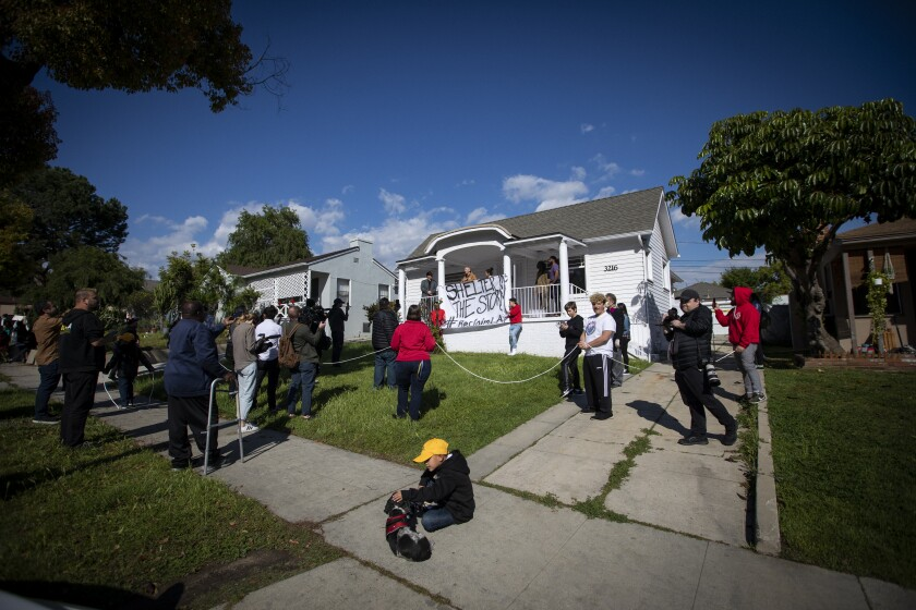 Homeless and housing-insecure protesters take over homes in El Sereno