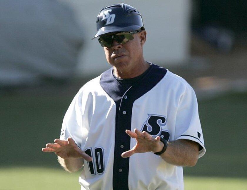 USD baseball coach Rich Hill.