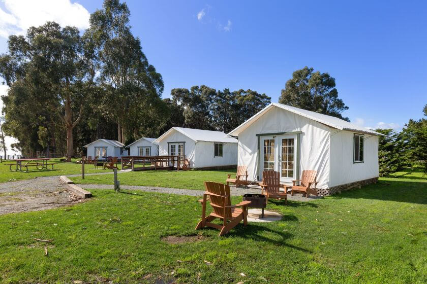 Costanoa's 75 glamping tents sit along the coast between Santa Cruz and San Francisco.