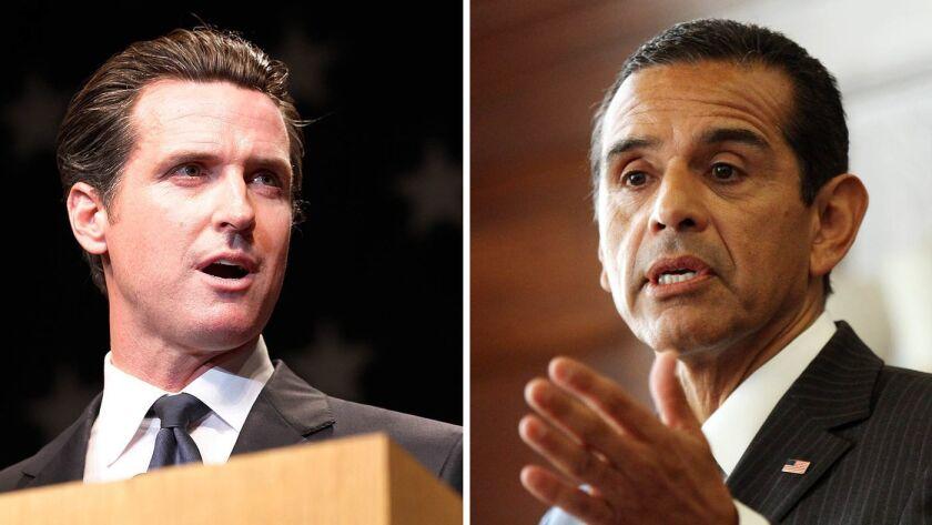 Newsom y Villaraigosa candidatos para gobernar de California.