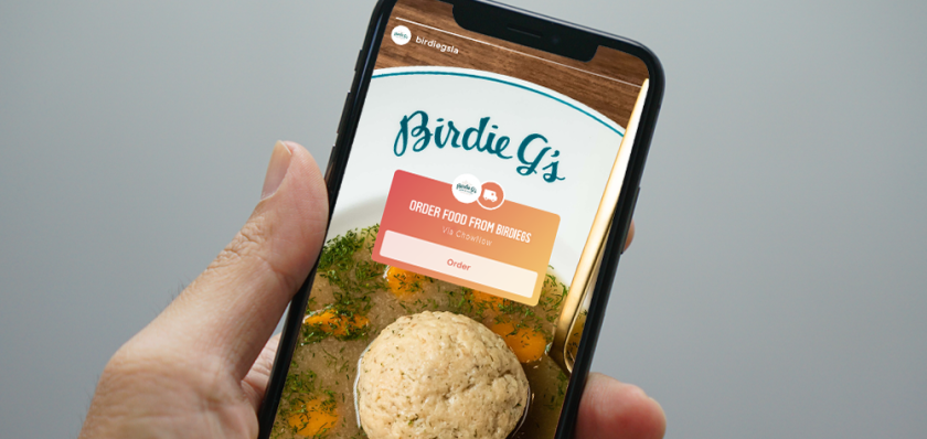 A new ChowNow and Instagram partnership will enable users to order food via the social media app.