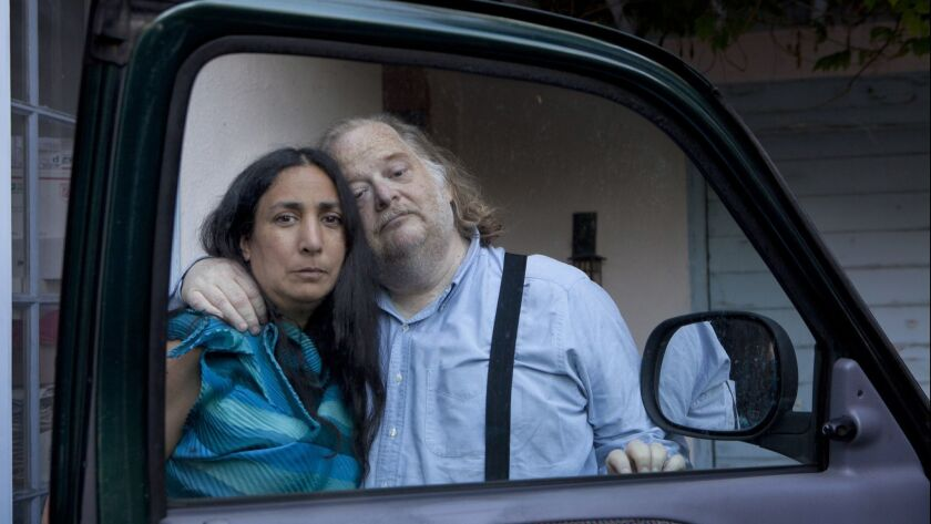 Jonathan Gold, restaurant critic for the Los Angeles Times pictured with his wife Laurie Ochoa.