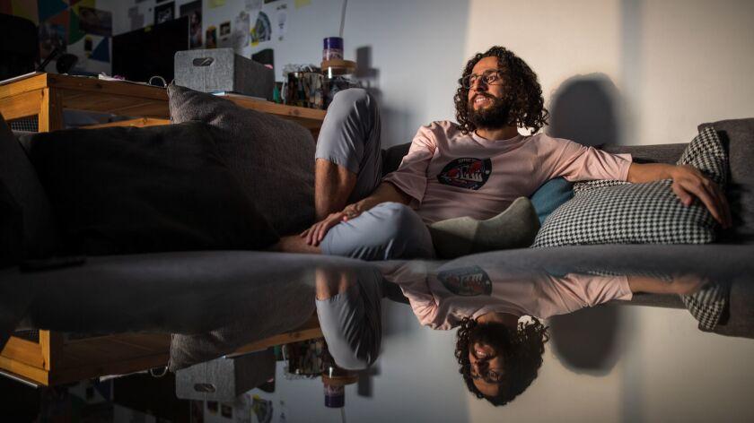 Hisham Fageeh in his home.