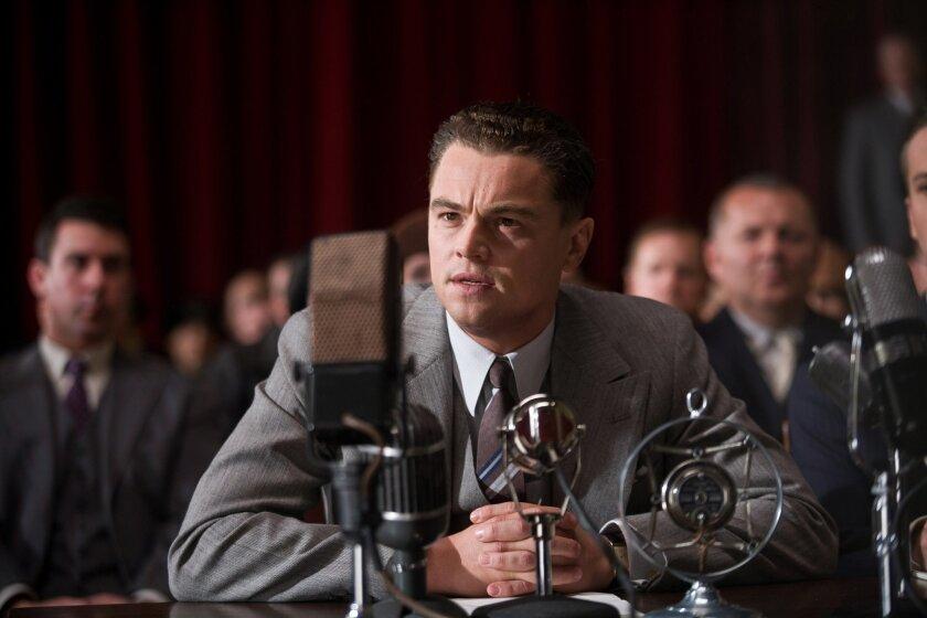 "Leonardo DiCaprio as J. Edgar Hoover in Warner Bros. Pictures' drama ""J. Edgar.""  Photo Keith Bernstein"