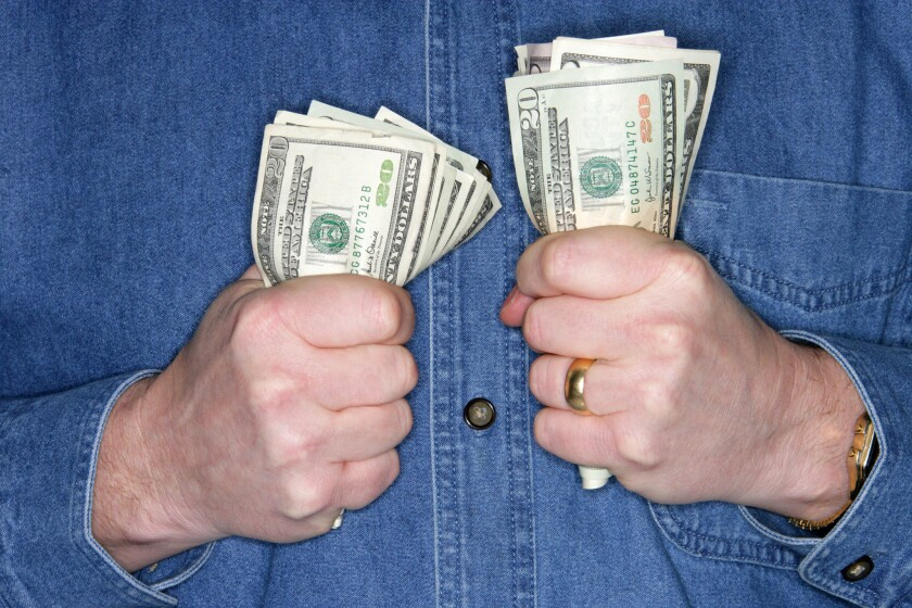 Lower stock prices can lead to tightened purse strings and fatter bank accounts.