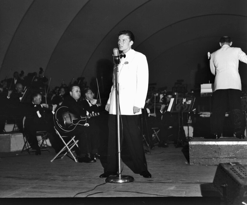 Frank Sinatra at the Hollywood Bowl on Aug. 14, 1943.