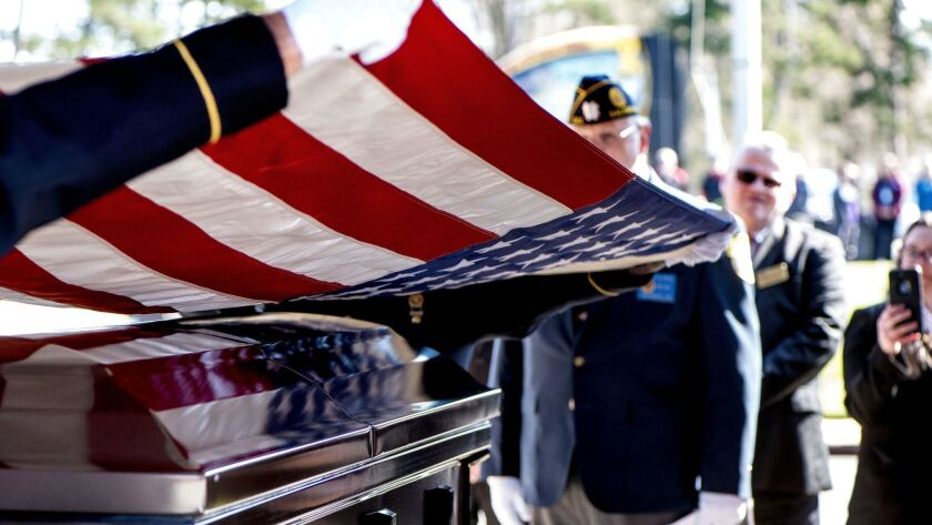 US Army medic Phillip Kenneth Drye, a veteran of the Vietnam War, was buried at the Salisbury National Cemetery on Wednesday morning with full military honors. Drye passed away on December 24 of 201