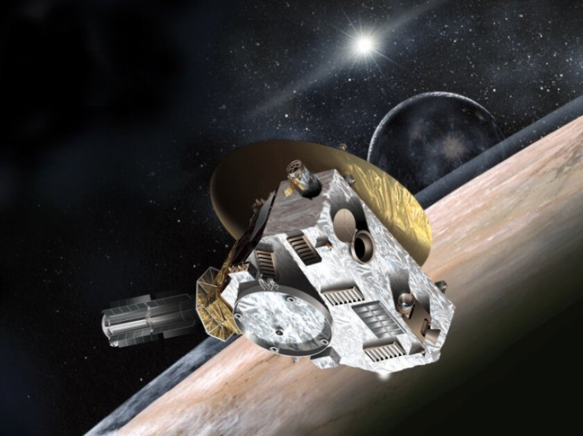 Artist's rendering of the New Horizons spacecraft, which is schedule to fly by Pluto in the summer of 2015.