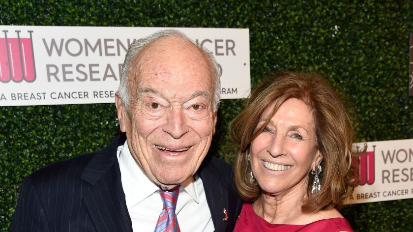 Nat King Cole Award Recipients Leonard Lauder, left, and wife Judy Lauder attend An Unforgettable Evening.
