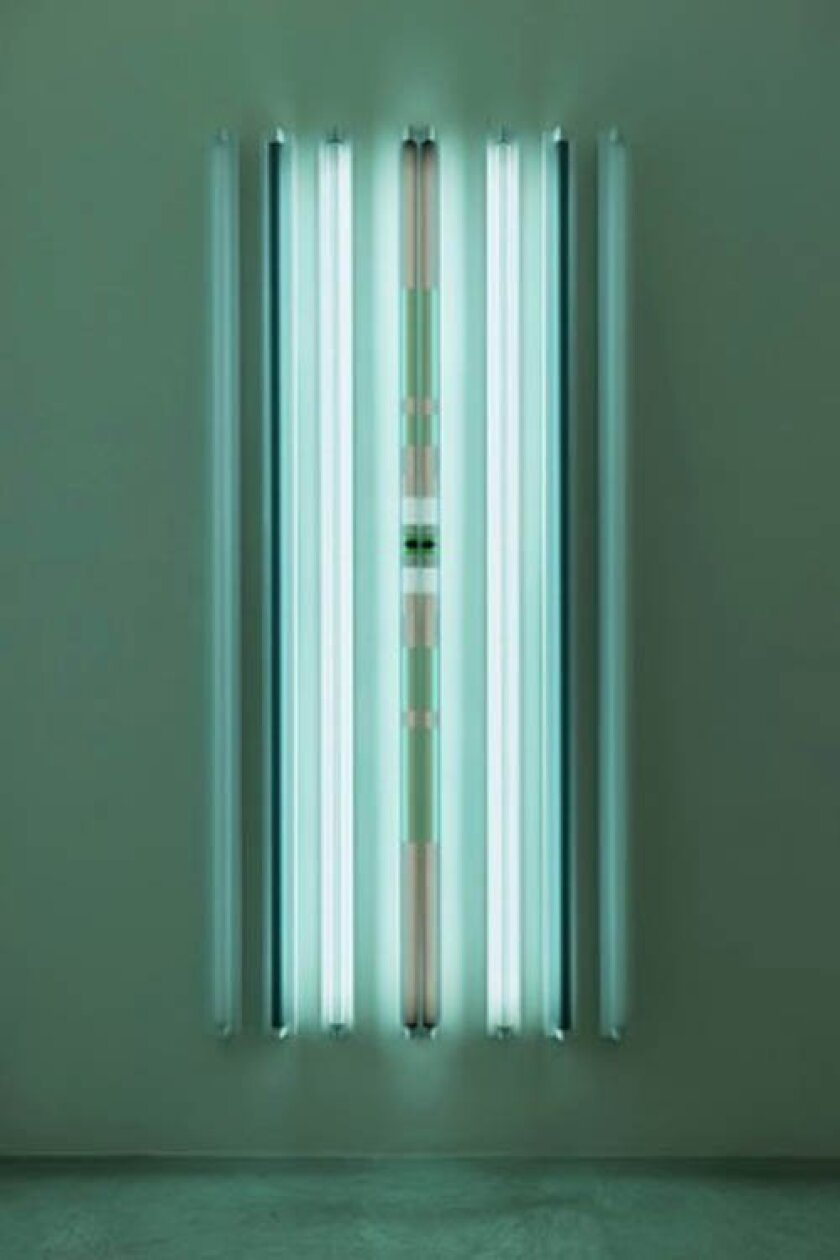 Robert Irwin, 'Palladium', 2013, light+shadow+reflection+color, 96 x 45-1/4 x 4-1/4 inches. © Robert Irwin. Photo courtesy Quint Contemporary Art. Photo: Philipp Scholz Rittermann