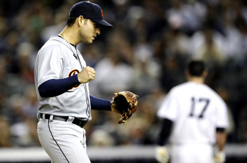 When last seen, Anibal Sanchez was pitching in the postseason with the Detroit Tigers. Now he might be the Dodgers' best option as a free-agent acquisition.