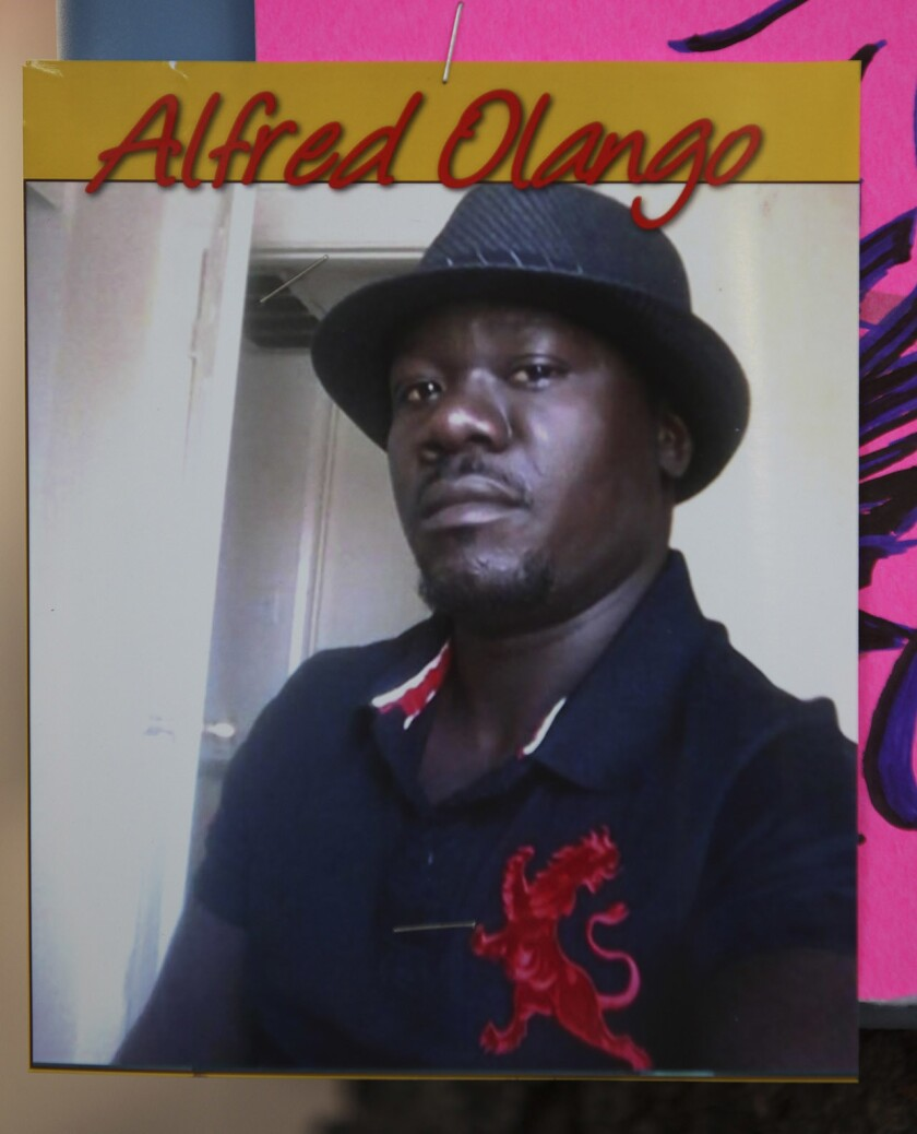 Alfred Olango remembered at the shooting scene