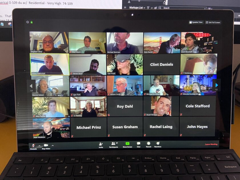 Uptown Planners virtual meeting on Tuesday, April 7, 2020.