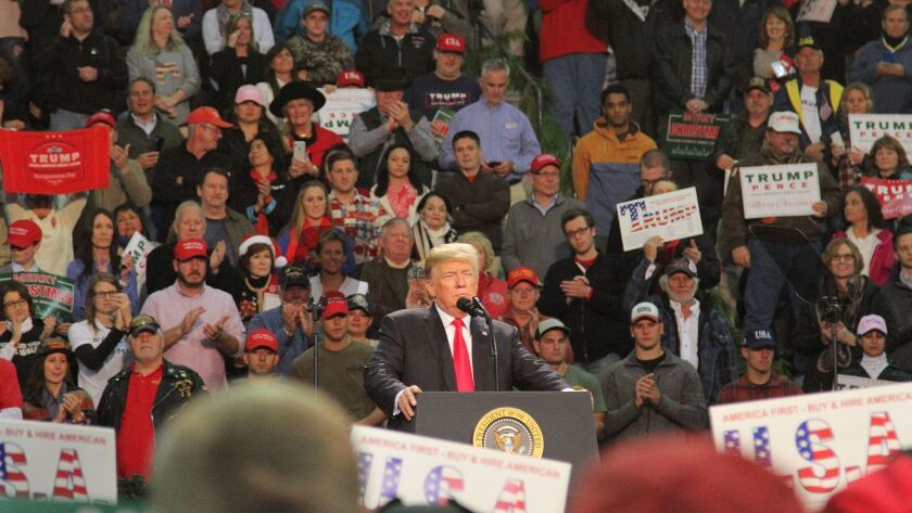 US President Donald J. Trump speaks in Pensacola, Florida, USA - 08 Dec 2017