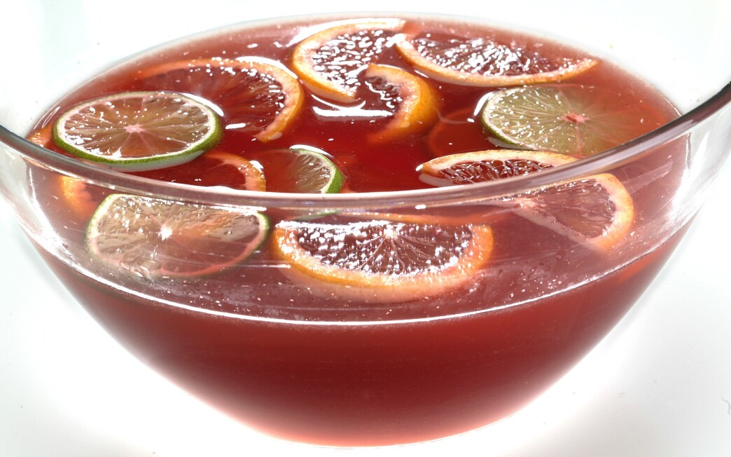 Blood orange white sangria