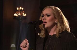 Adele gives marvelous performance on 'SNL', and her 'Hello' gets a spoof