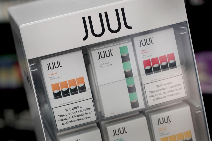 Juul electronic cigarettes and pods
